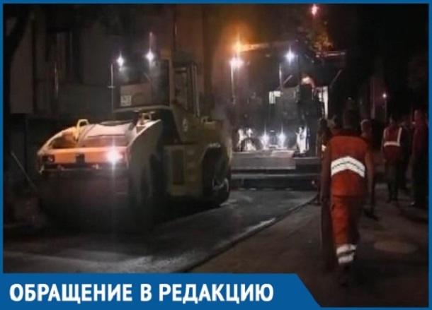 Краснодарцам мешают спать ночные дорожные работы