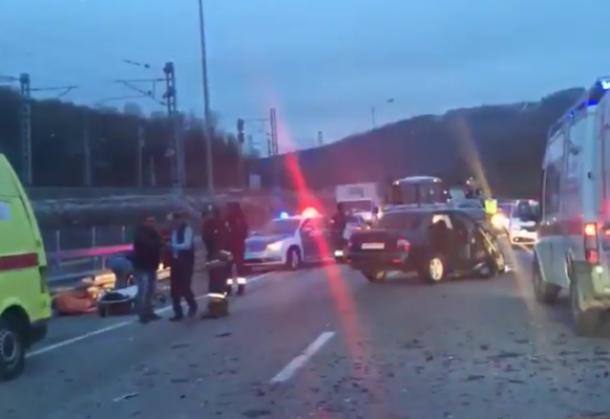 Анфиса Чехова стала свидетельницей зверской аварии в Сочи