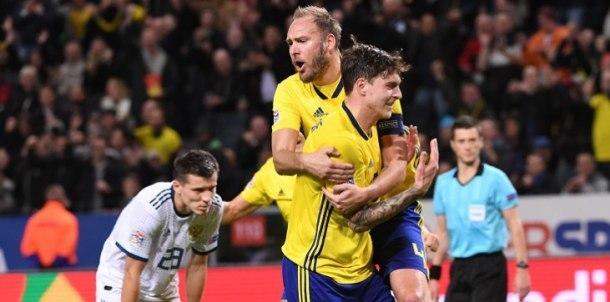 Россия с футболистами «Краснодара» проиграла шведам и не попала в элиту Лиги наций