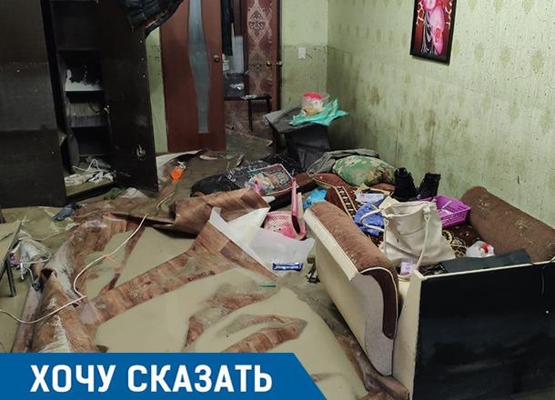 «Дома воды по грудь»: наводнение снова уничтожило квартиру жительницы Туапсе