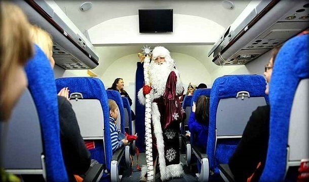 Русские пассажиры 41 авиарейса встретят Новый год внебе