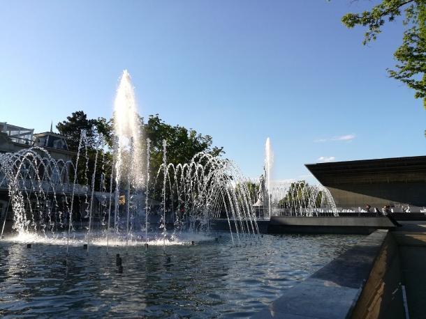 На фонтане у «Авроры» начали профилактические работы