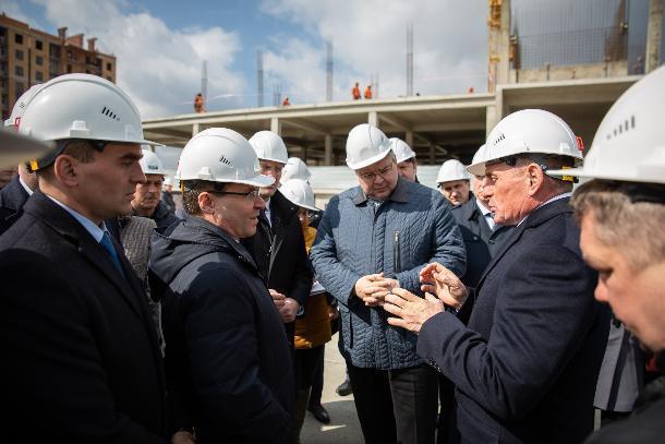 Министр строительства России Владимир Якушев посетил ЖК «Российский» от крупнейшего застройщика Кубани