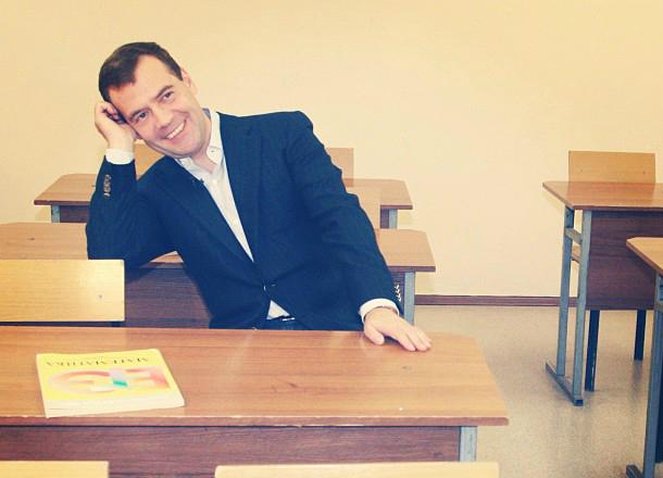 Медведев устроил экзамен краснодарской школьнице