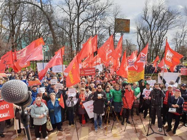 Около тысячи человек в Краснодаре вышли на митинг против «закона об оскорблении власти»
