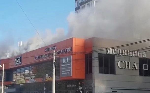 В Анапе загорелось офисное здание