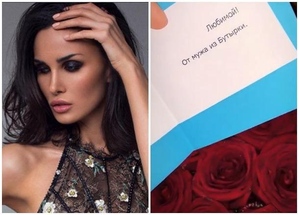 Букет алых роз получила супруга хавбека «Краснодара» Мамаева из «Бутырки» в День влюбленных