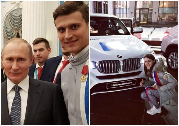 «Почему «Весту» не подарили?»: новыми BMW и орденами наградили призеров Олимпиады сочинцев Забияко и Энберта