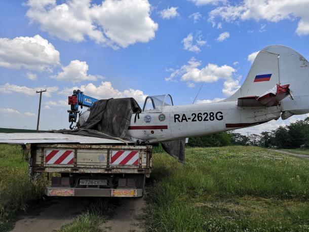 Жесткая посадка самолета на Кубани попала на видео