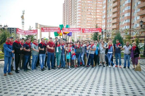Жители «Губернского» и «Панорамы» приняли участие в масштабном субботнике