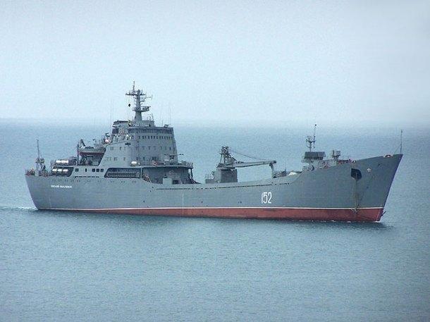 Десантный корабль ВМФ РФ сгрузом для Сирии вышел вСредиземноморье