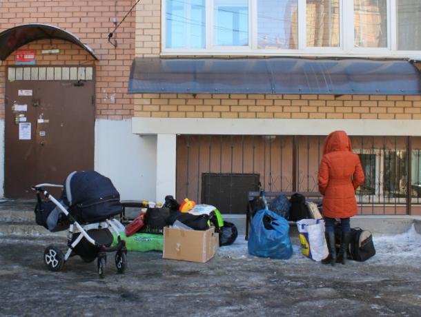 Погорельцы издома наПрокофьева открыли собственный пункт приема помощи