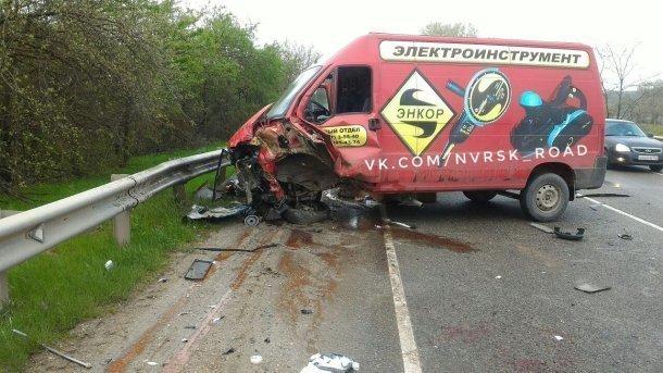 Жесткая авария на «встречке» произошла под Крымском