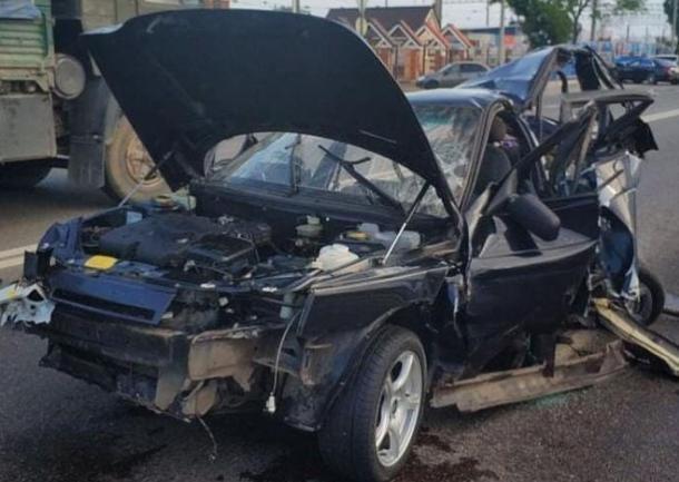 Появилось видео трагичной аварии на Ростовском шоссе в Краснодаре
