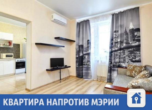 Светлая квартира напротив мэрии продается в Краснодаре