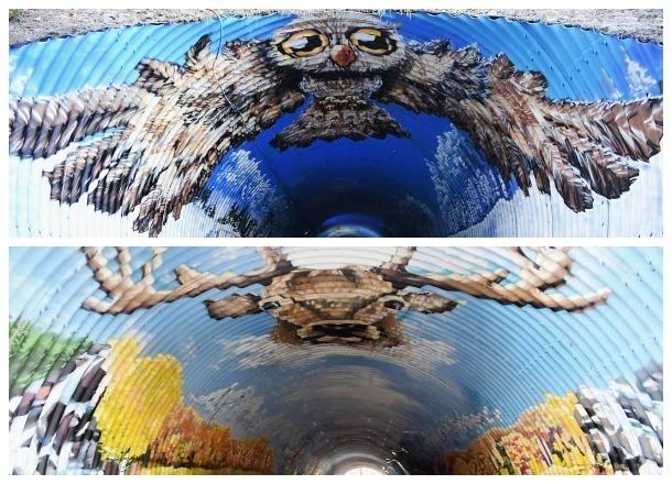 Художники из Краснодара превратили тоннель в «Роза Хутор» в арт-объект
