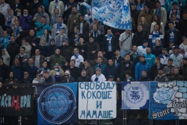 «Свободу Кокоше и Мамаше», - болельщики поддержали арестованных футболистов на матче «Краснодар» - «Зенит»