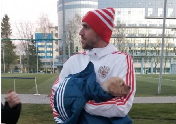 Сборная России во главе с «краснодарцем» Юрием Газинским исполнила мечту 9-летней девочки