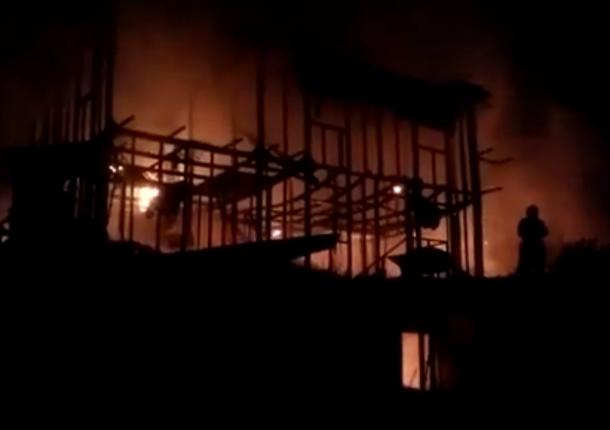Пожар вжилом доме вСочи: один человек умер