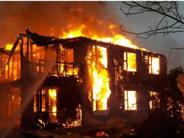 В Сочи сгорел дотла двухэтажный дом