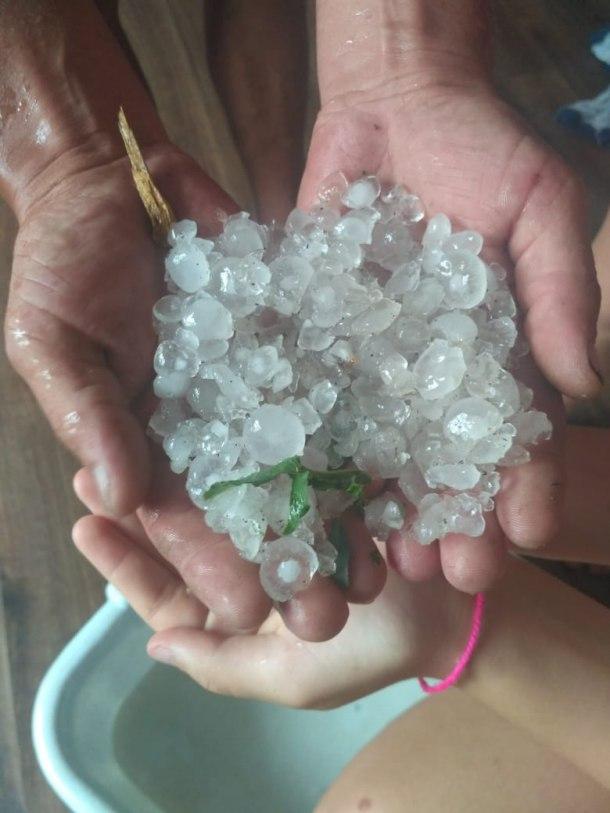 Град побил урожай в Красноармейском районе