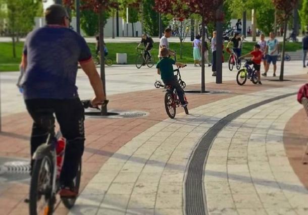 Велосипеды и электротранспорт запретили в парке «Краснодар»