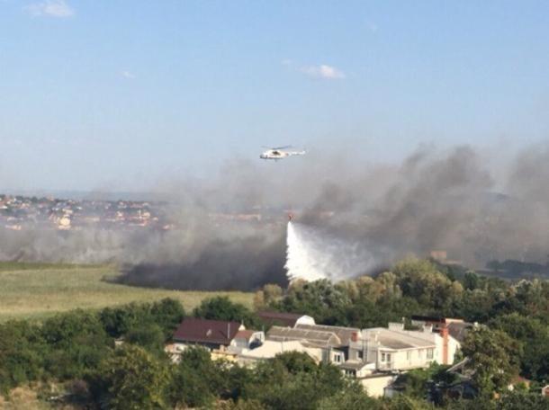 С воздуха сброшено 577 тонн воды на возгорание в Анапе