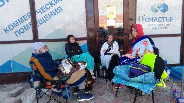 В Краснодаре обманутые дольщики в ожидании губернатора Кубани голодают 14 дней подряд