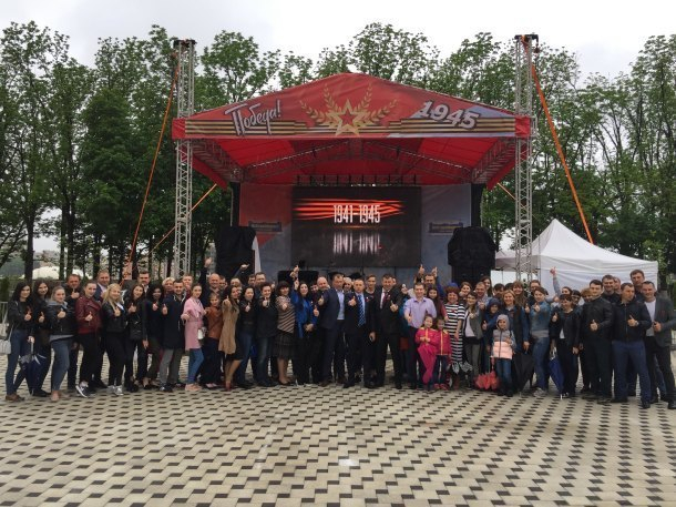 Группа компаний «ЮгСтройИнвест» вместе с жителями масштабно отметила День Победы