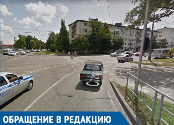 Житель Краснодара пожаловался на опасный пешеходный переход