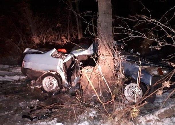 При столкновении легковушки с деревом на Кубани погибли 3 человека