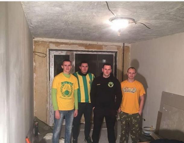 В сгоревшей квартире легенды «Кубани» поставили новые окна