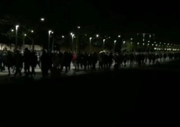 Очередь из 35 тысяч футбольных фанатов попала на видео после матча «Краснодара» с «Зенитом»