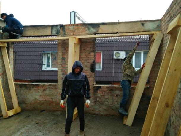Всгоревшем доме наПрокофьева отремонтировали первую квартиру