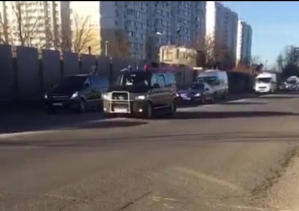 Кортеж Медведева в Краснодаре попал на видео