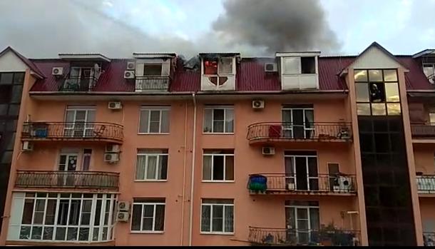 Пожар вжилом доме вСочи ликвидирован