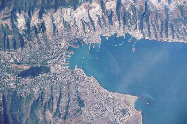 Новороссийск изкосмоса сфотографировали наборту МКС