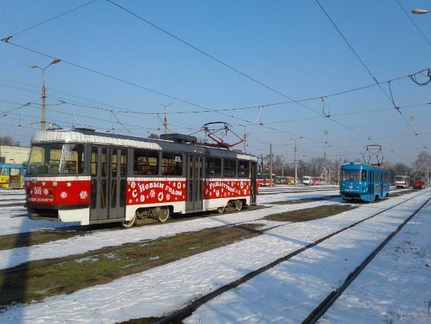 ВКраснодаре намаршрут выйдут новогодние трамваи