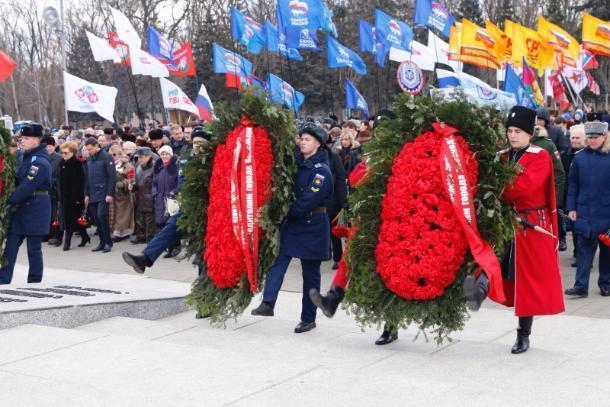 Годовщину освобождения отнемецко-фашистских захватчиков отмечает Краснодар
