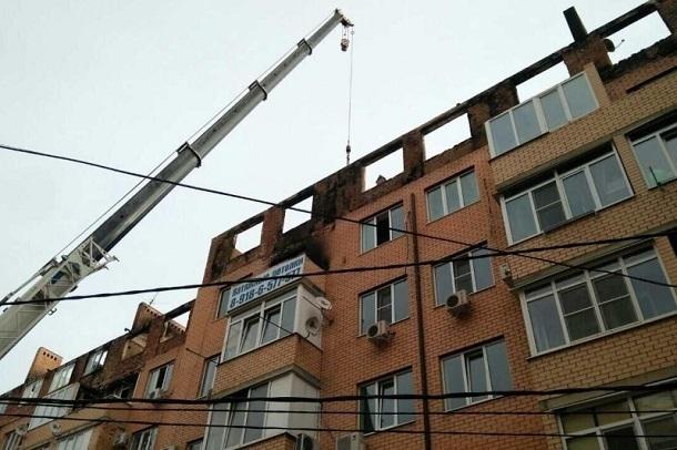 Сгоревший дом наПрокофьева, 3 начали восстанавливать