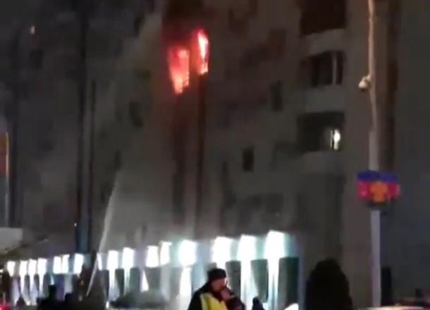 Пожар вжилой многоэтажке вцентре Краснодара локализован