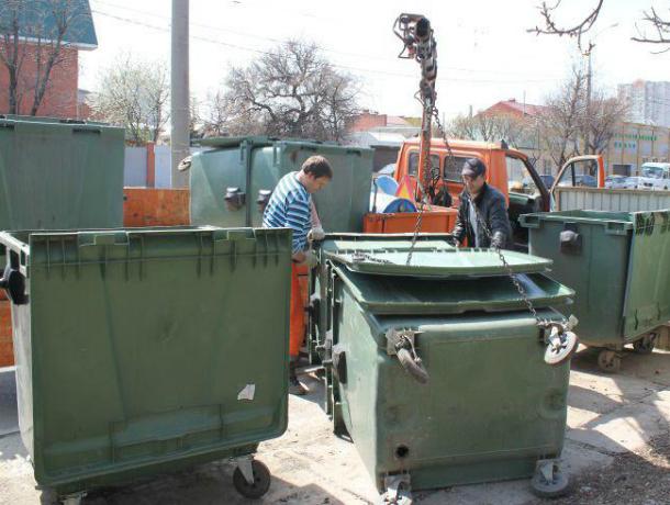 Исчезнувшие мусорные баки начали возвращать на место в Краснодаре