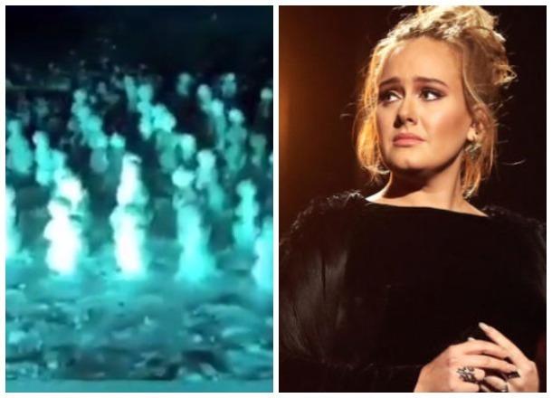 Хор кубанских снеговиков попросил певицу Адель не уходить со сцены