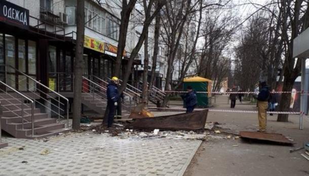 Снесли подчистую ларек судебные приставы в Краснодаре