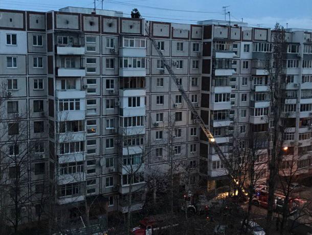 ВКраснодаре гасят пожар в высотном здании
