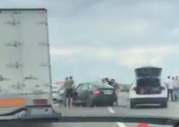 Массовое ДТП с шестью автомобилями произошло в Краснодарском крае