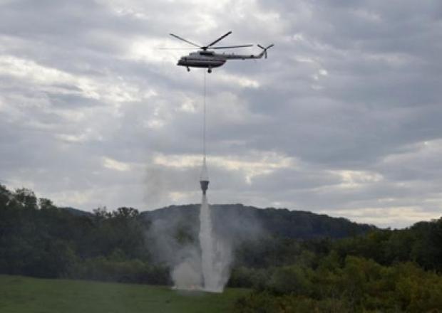 В Сочи провели учения по тушению лесных пожаров при помощи авиации