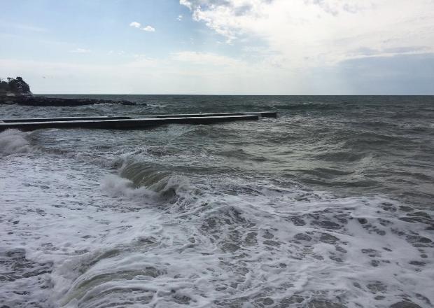 Купавшегося в шторм мужчину спасли в Сочи