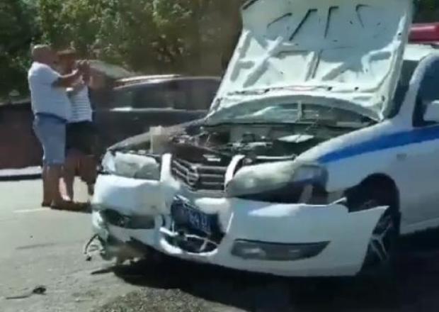 Двое пострадали в ДТП с патрульной машиной на Кубани