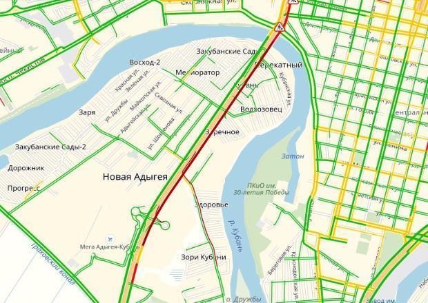 Первый день ремонта Тургеневского моста стал для краснодарцев «дорожным адом»